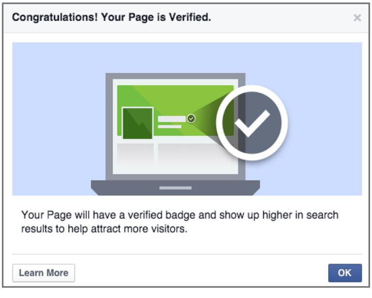 membuat status ter verified - terverifikasi untuk facebook page