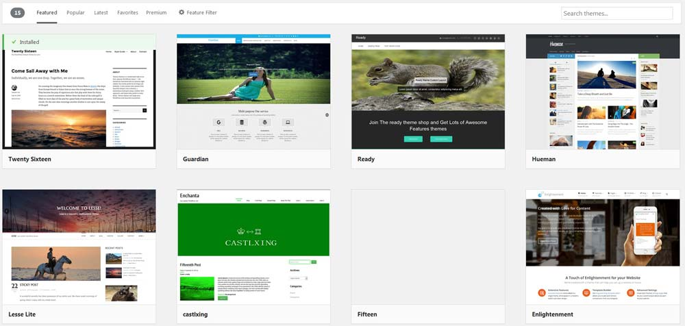 mengubah themes wordpress